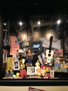 Elvis Merchandise available to fans for purchase.