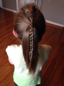 Addison-Simple Braided Pony-back view