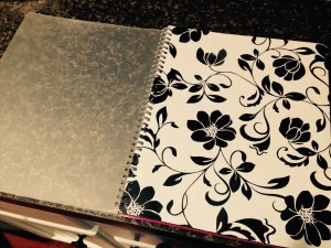 Planner-floral cover insert