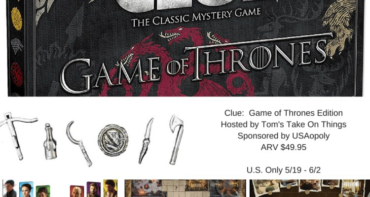 Clue: Game of Thrones Edition Board Game Giveaway