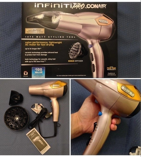 Infiniti Pro by Conair® hair dryer in Rose Gold