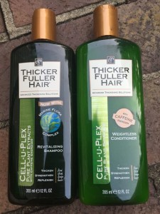 Thicker Fuller Hair Strengthen Replenish Shampoo and Conditioner