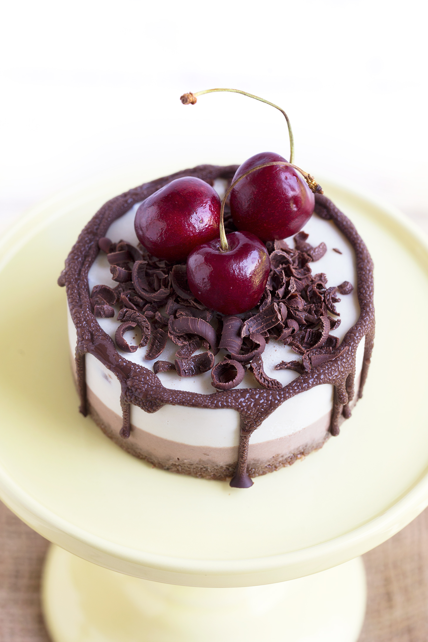 The Black Forest cake made vegan, gluten free and raw ! How about that ...