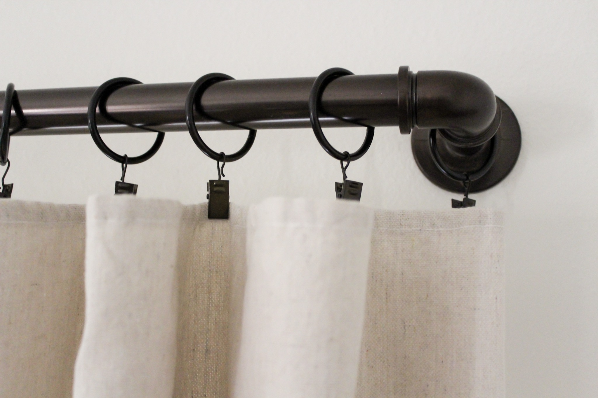 Cafe Curtain Clips Diy No Sew Drop Cloth Curtains Beauty For Ashes