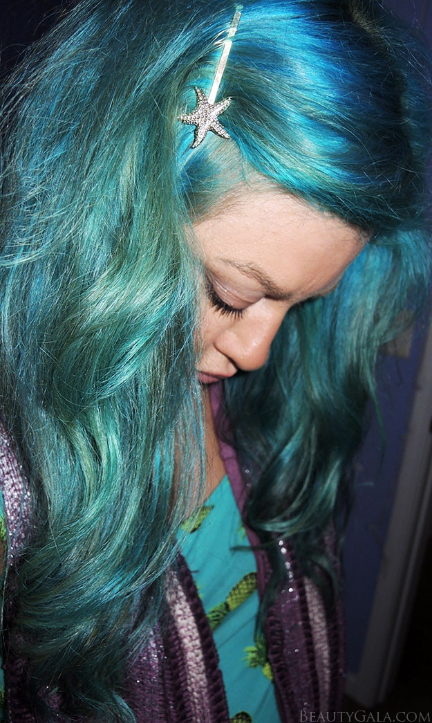 Nice Hair Color For Dark Skin Tone How To Get Turquoise Hair Manic Panic Atomic Turquoise