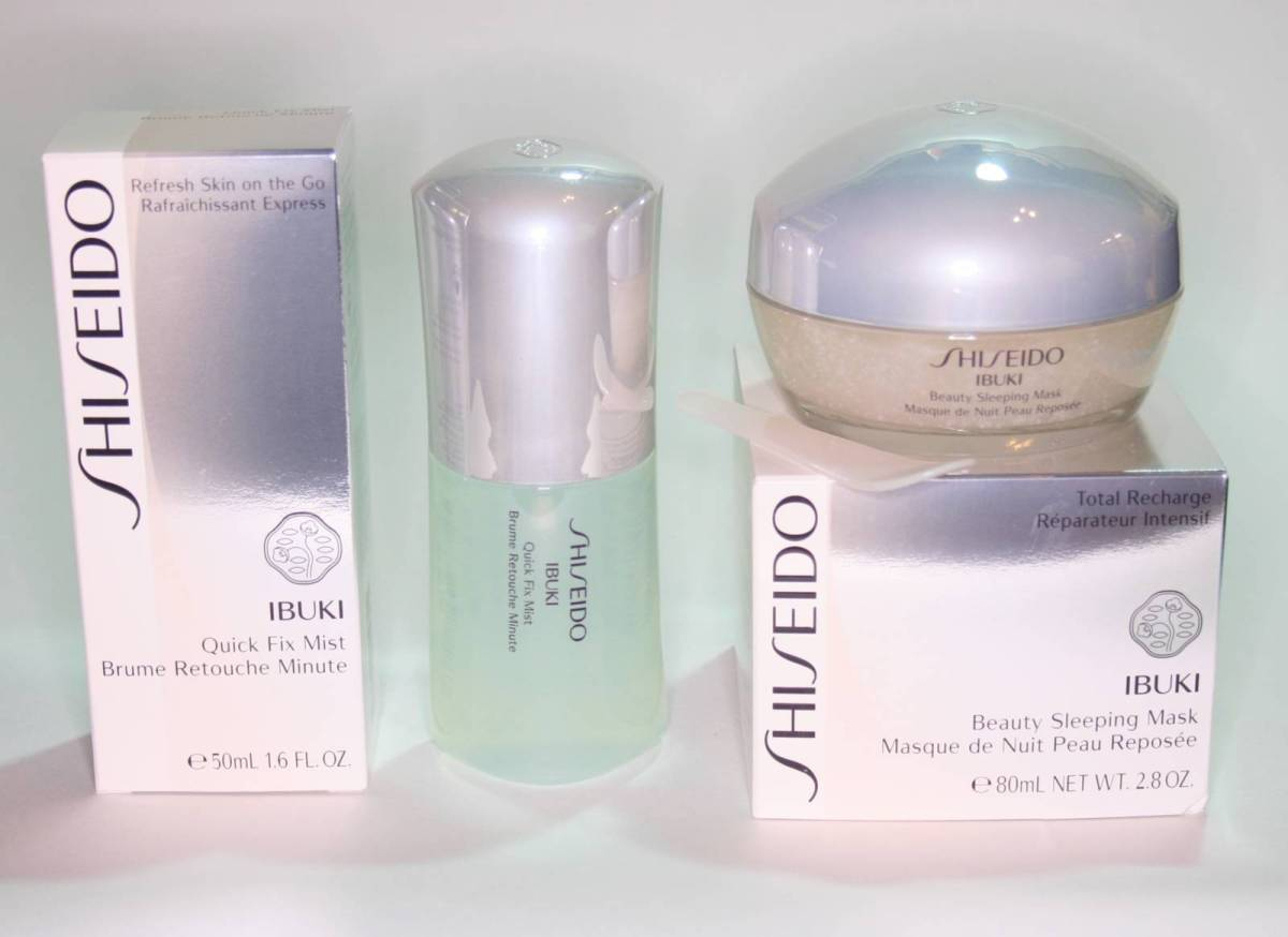 Shiseido Ibuki: New Quick Fix Mist and Beauty Sleeping Mask