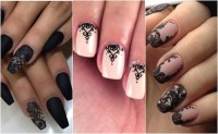 Turn up the sexy this Valentine's Day with lace nails