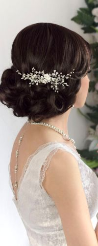 Bridal Hairstyles Inspiration : Bridal hair comb, wedding