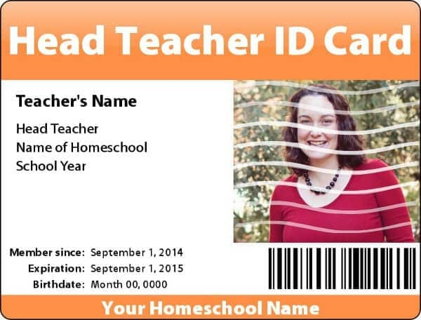 Homeschooling Basics FREE Teacher and Student IDs