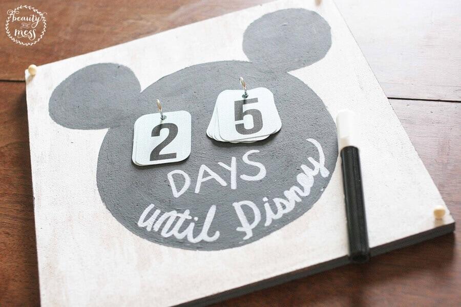 Super Easy DIY Disney Countdown Calendar for Your Next Disney Vacation