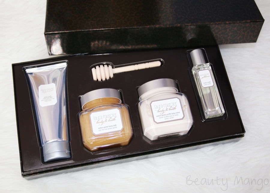 Badezimmer Set London Laura Mercier Sweet Temptations Ambre Vanillé - Beauty Mango