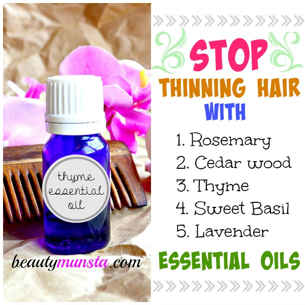 5 Most Effective Essential Oils For Thinning Hair