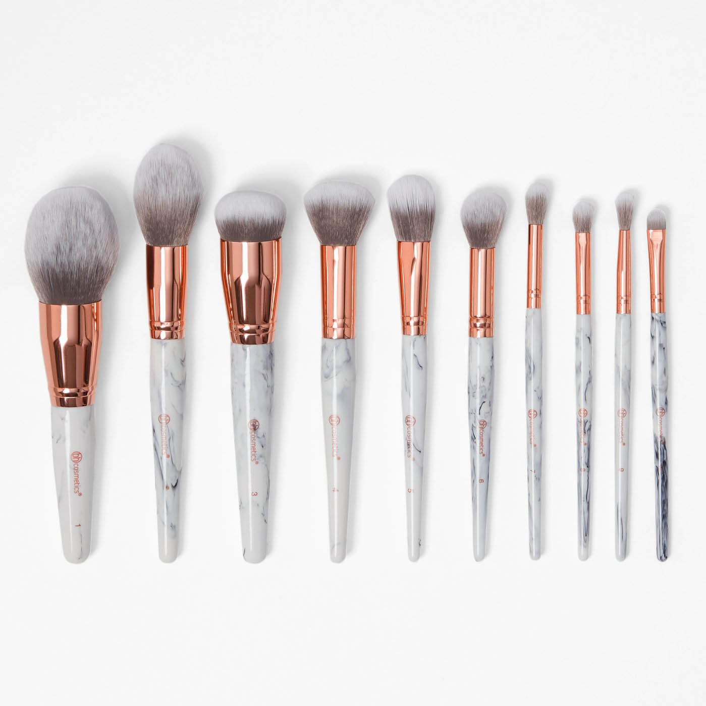 Pinsel Set 10 Teiliges Pinsel Set Marble Luxe Brush Set