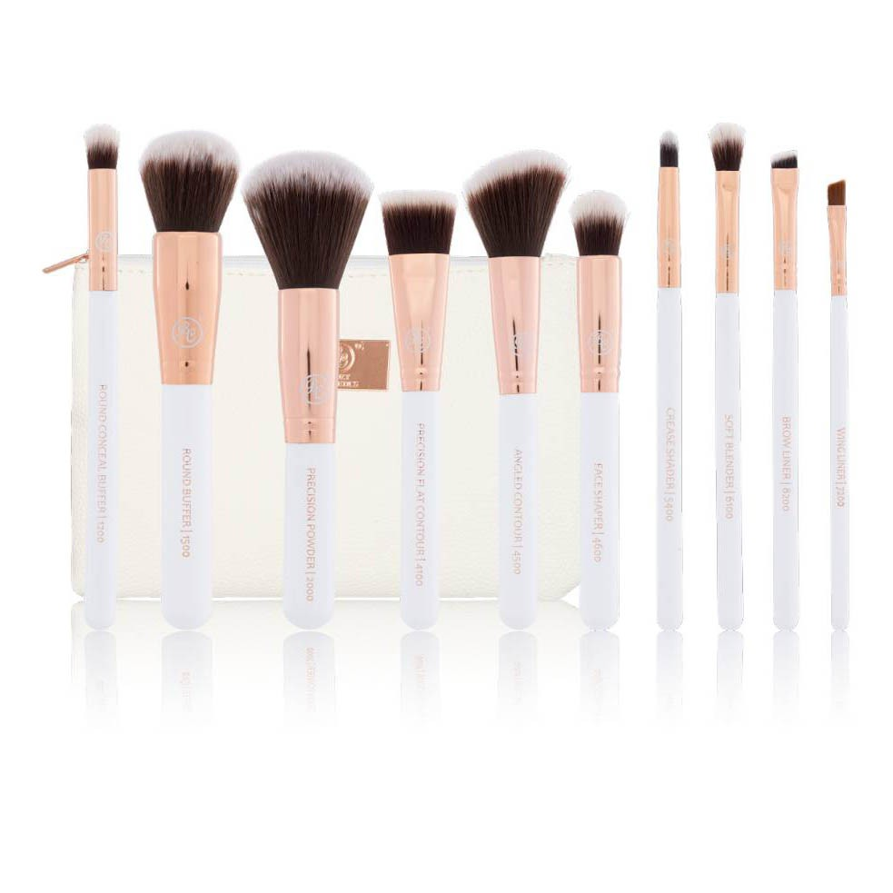 Pinsel Set Bestseller Boozy 10 Piece Brush Set Rosé Golden Sculpt Blend Beautypalast Ch