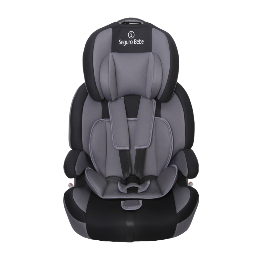 Stage 2 Car Seat With Base Seguro Bebe Bravo Isofix Group 1 2 3 Child Car Seat Grey On Black