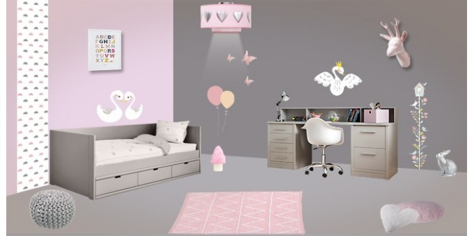 Chambre Fille Rose Bebe Confort Axiss - Chambre Enfant Rose