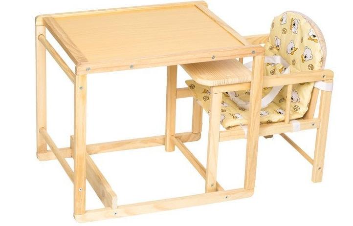 Trona de madera convertible de tectake por unos 40 euros - Trona de mesa ...