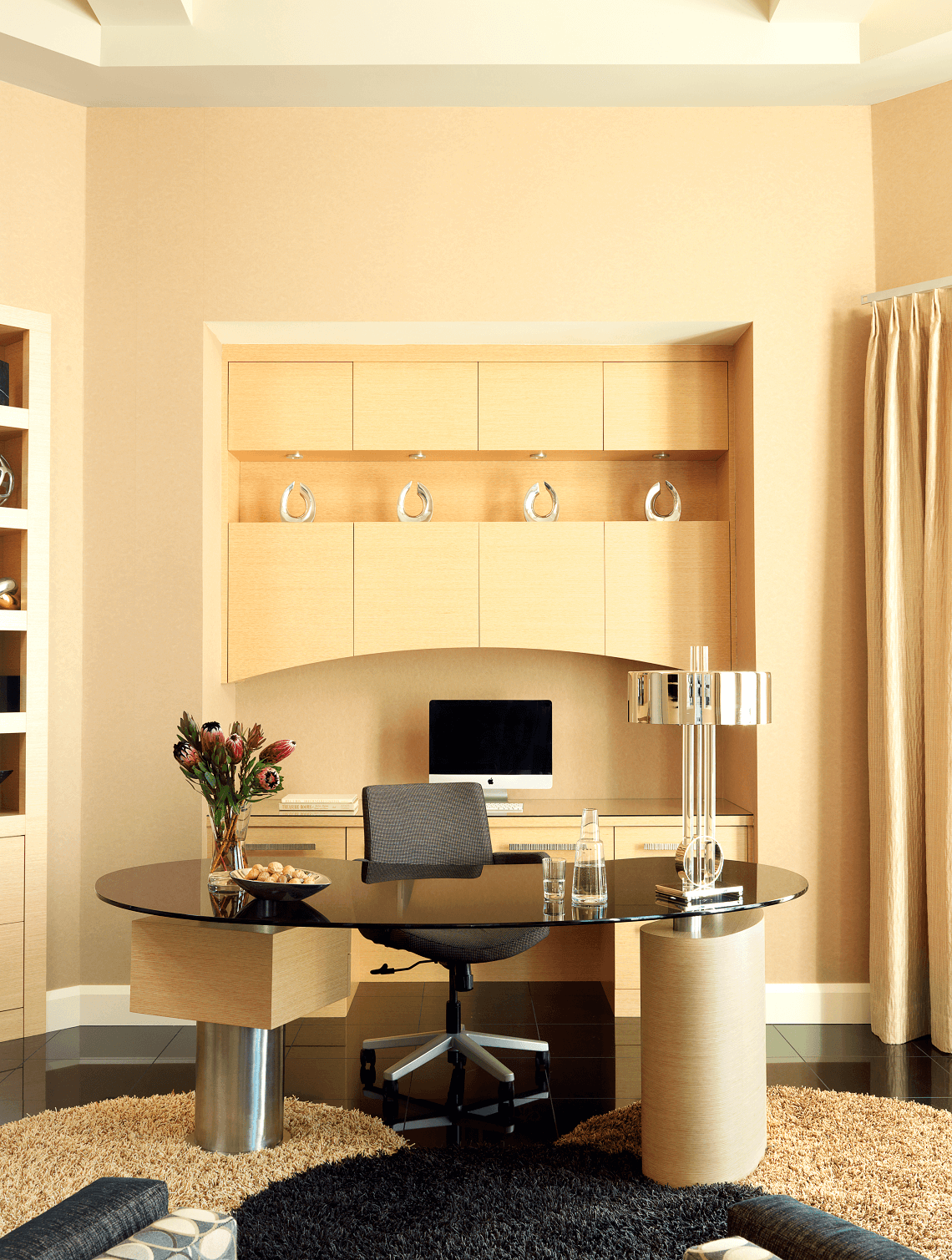 Home Office Cabinets Contemporary Home Office Beck Allen Cabinetry