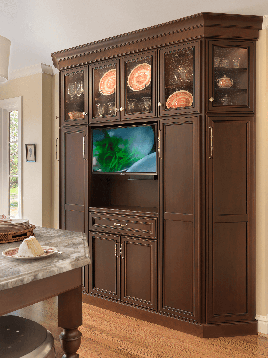 Tv Cabinet Kitchen Custom Tv Cabinet Beck Allen Cabinetry