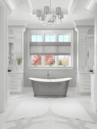 Master Bathroom with Freestanding Tub - Beck/Allen Cabinetry
