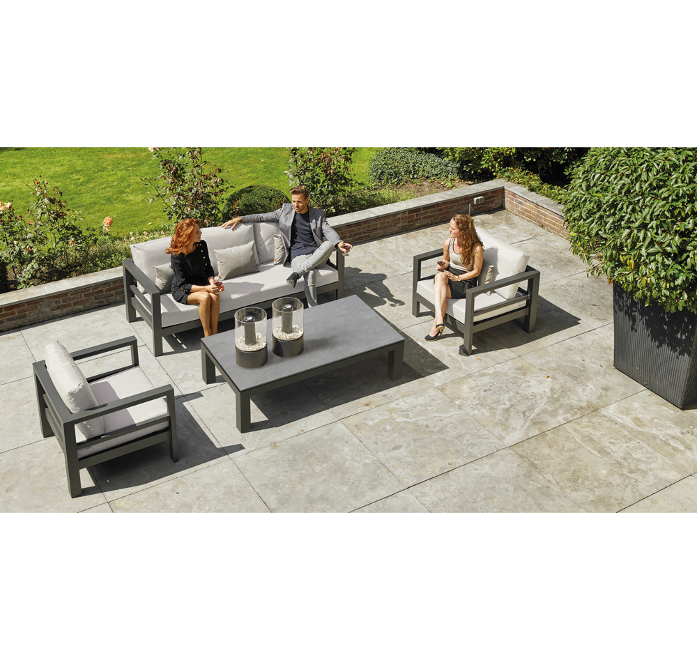 Life Outdoor Living Loungemöbel Set Delta Aluminium Lava - Loungemöbel Outdoor