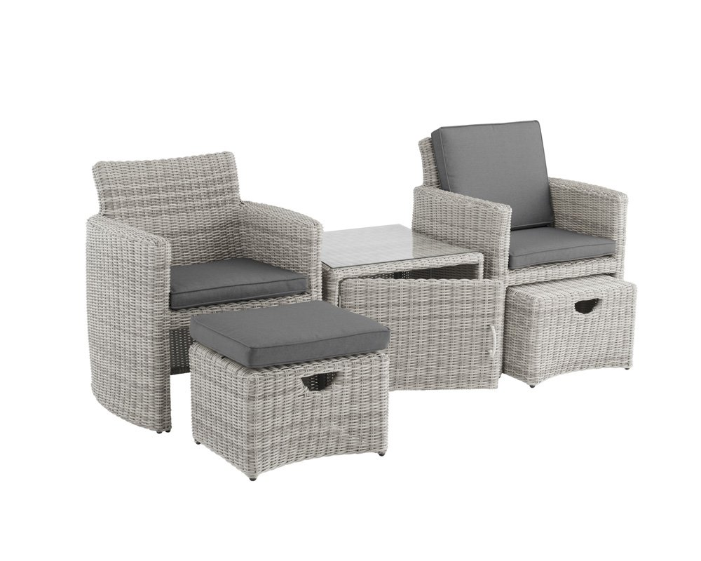Tisch Royal Lounge Kettler Cupido Set Inkl Tisch 2 Sessel Hocker
