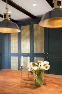 Navy, White and Brass Kitchen