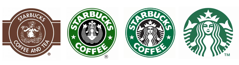 Starbucks' logo evolution is often cited in articles regarding the minimalism trend.