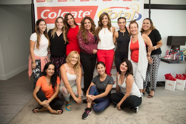 Latinas attending the Simplemente Saludable event from Colgate Total, that empowers Latinas to renew their lifestyle with a focus on well-being, physical and oral health. Thursday, July 7, 2016, in Miami. (Jesus Aranguren/AP Images for Colgate Total)