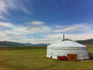 Tent in the open field