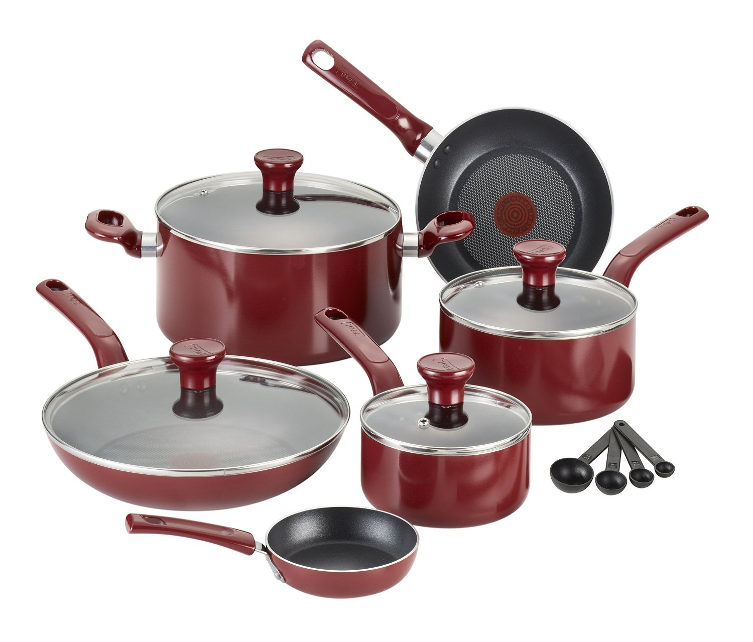 Tefal Pan Set T Fal Excite Nonstick Thermo Spot 14 Piece Cookware Set