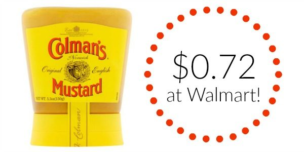 Walmart Colman\u0027s Mustard Only $072! - Become a Coupon Queen - walmart norwich