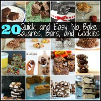 20 Quick and Easy No Bake Squares and Cookies
