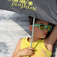 Create Your Own Sunshine with an Iron On Umbrella DIY