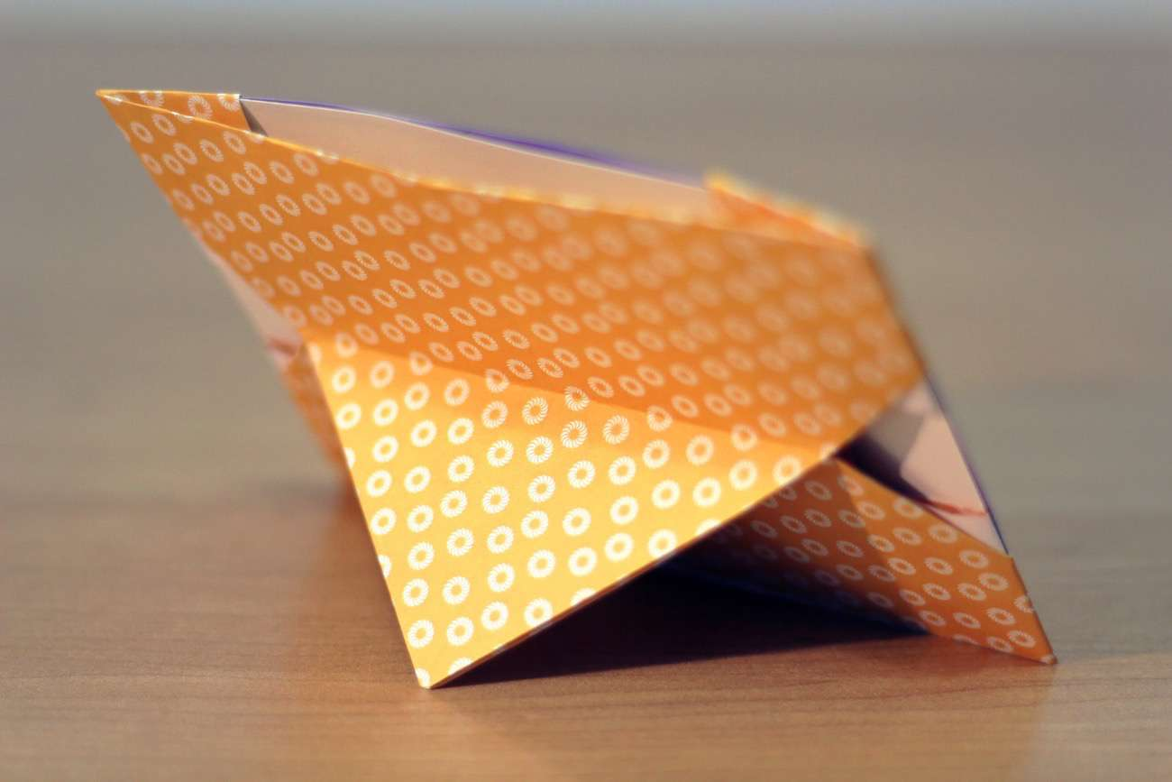 Portafoto Tiger Diy Origami How To Make A Photo Frame With Paper