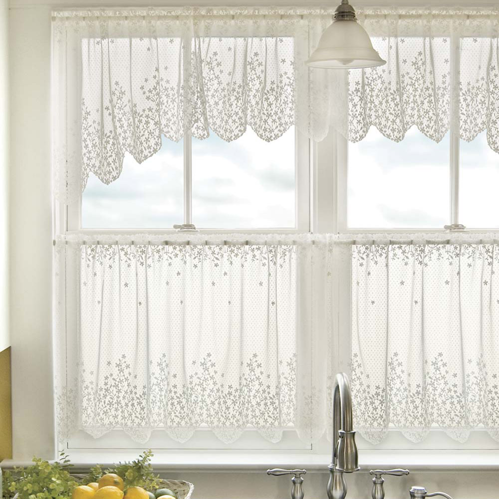 24 Inch Kitchen Curtains Lace Curtain Panels Heritage Lace Curtains Altmeyer S Bedbathhome