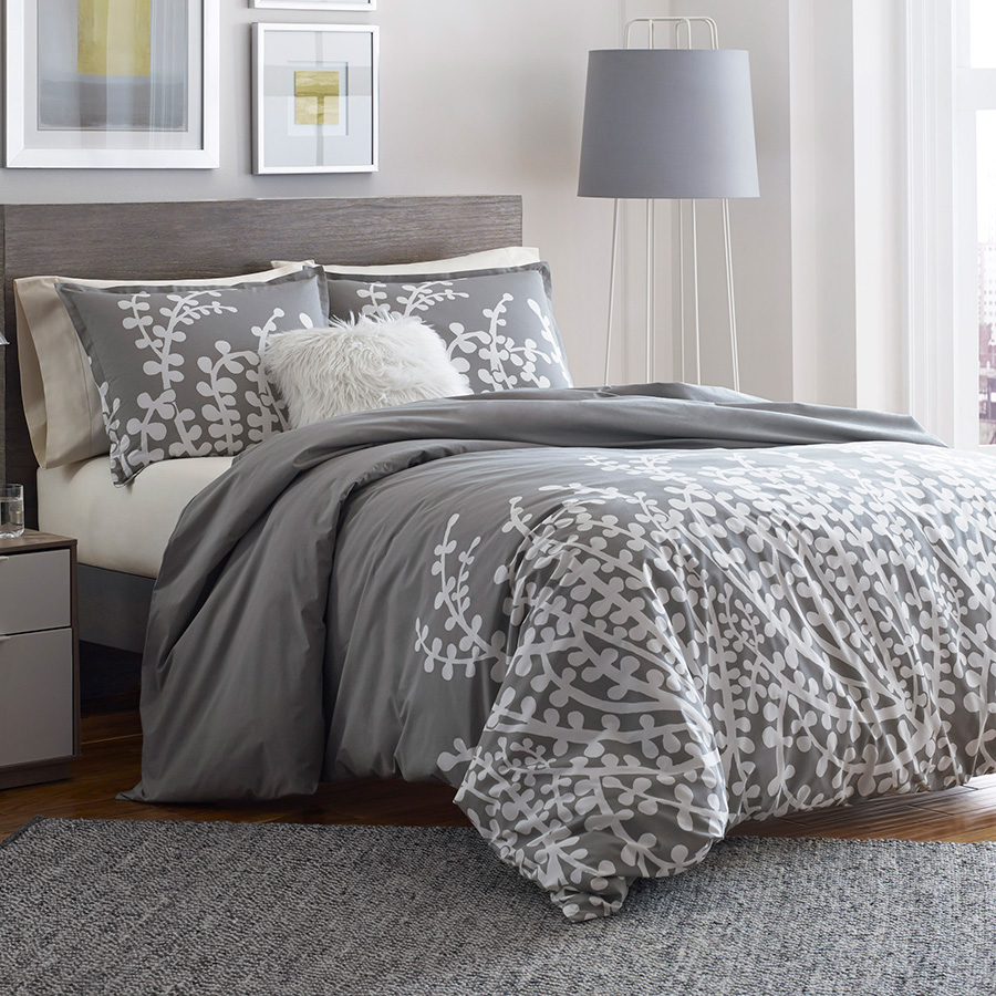 Duvet And Comforter Sets City Scene Branches Gray Comforter Duvet Set