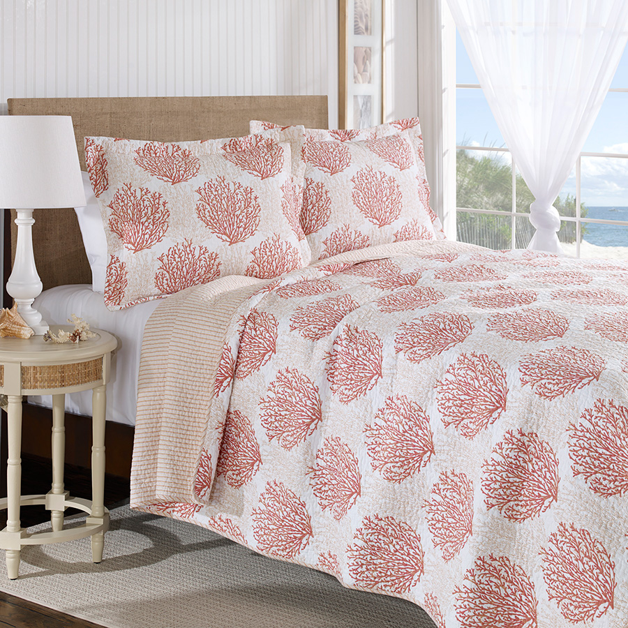 Tan Duvet Cover King Laura Ashley Coral Coast Coral Quilt Set From Beddingstyle.com