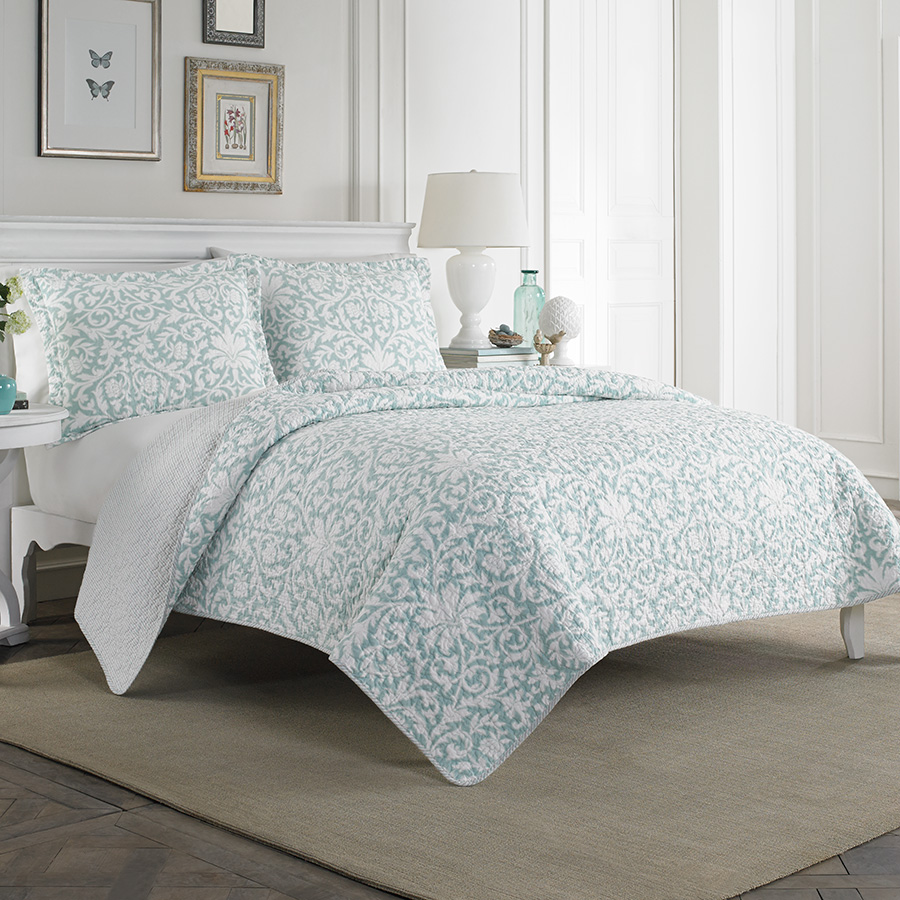 Laura Ashley Mia Quilt Set from Beddingstyle.com