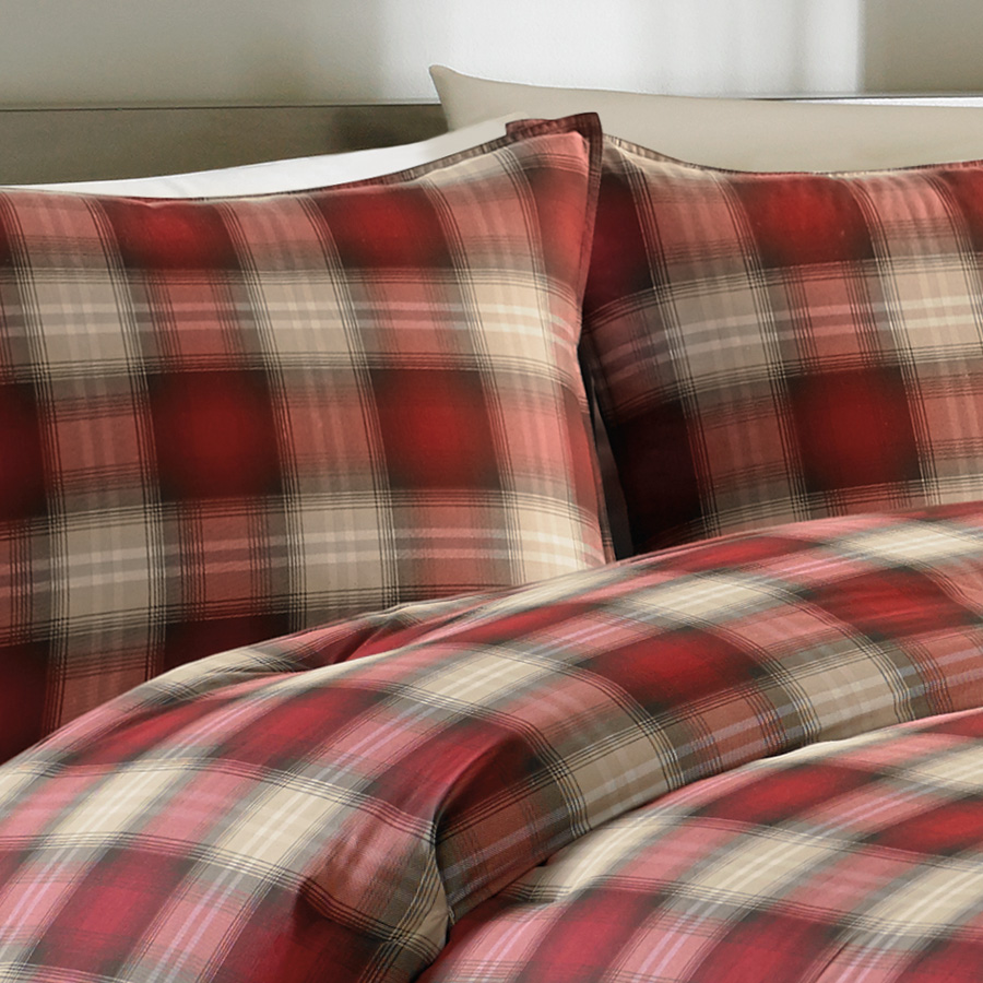 Queen Daybed Eddie Bauer Navigation Plaid Comforter Set From
