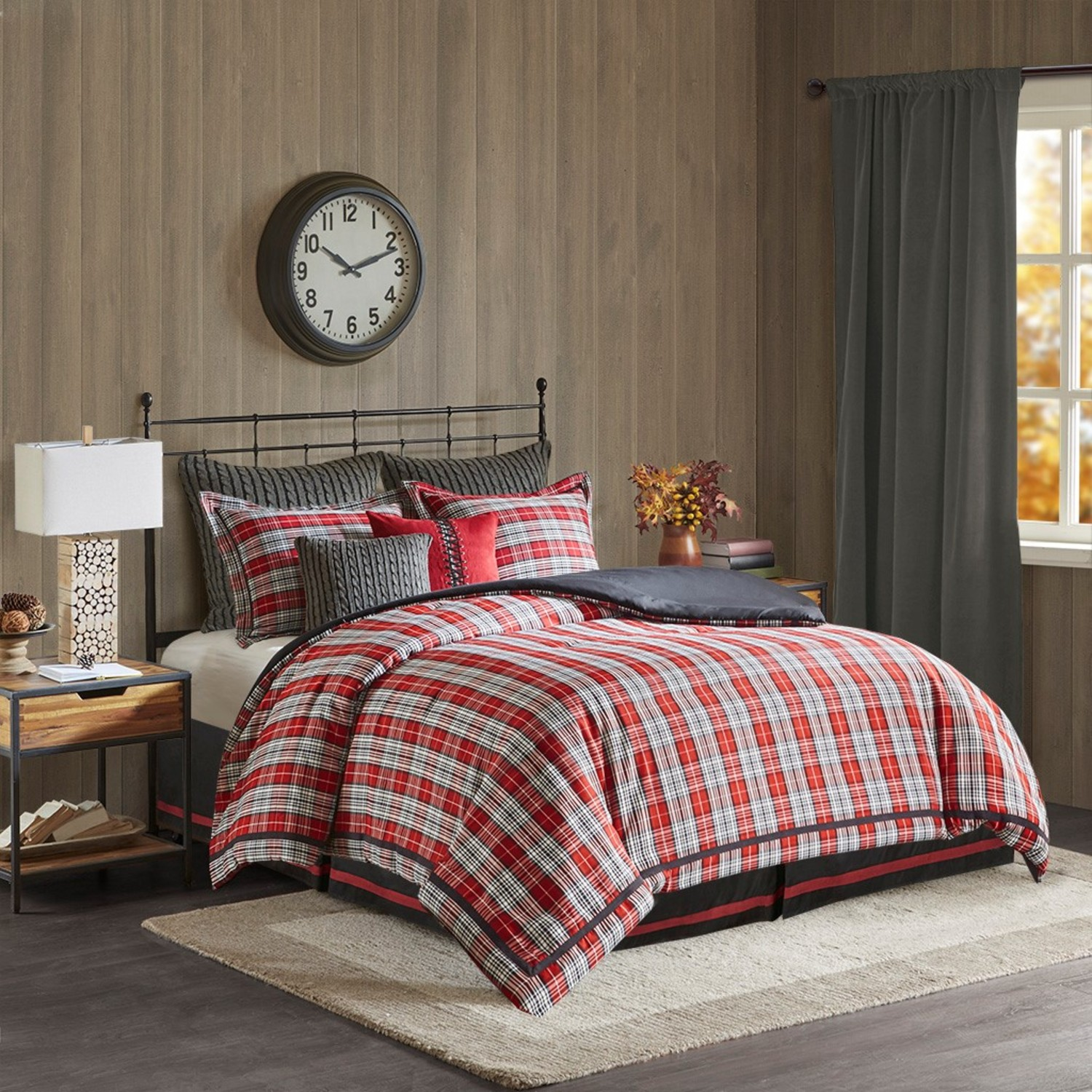 Tan Duvet Cover King Williamsport Plaid By Woolrich - Beddingsuperstore.com