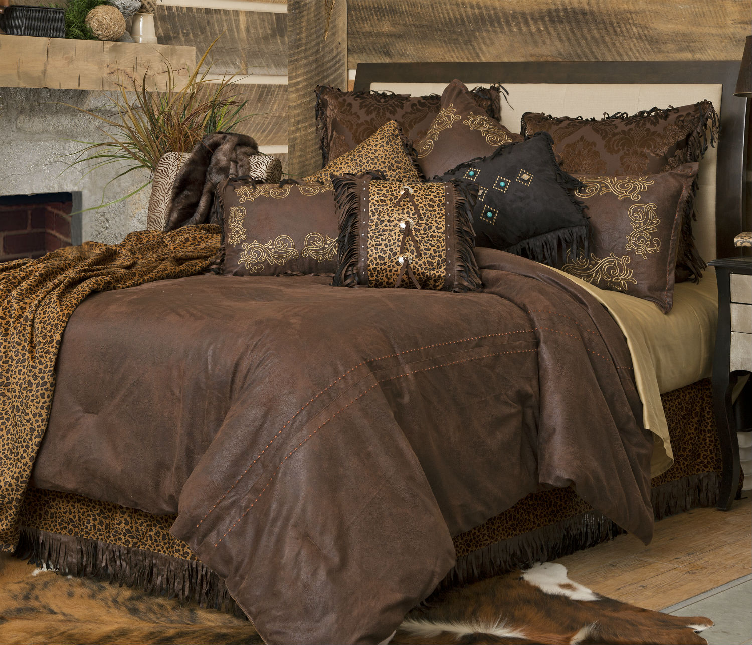 Tan Duvet Cover King Gold Rush By Carstens Lodge Bedding - Beddingsuperstore.com