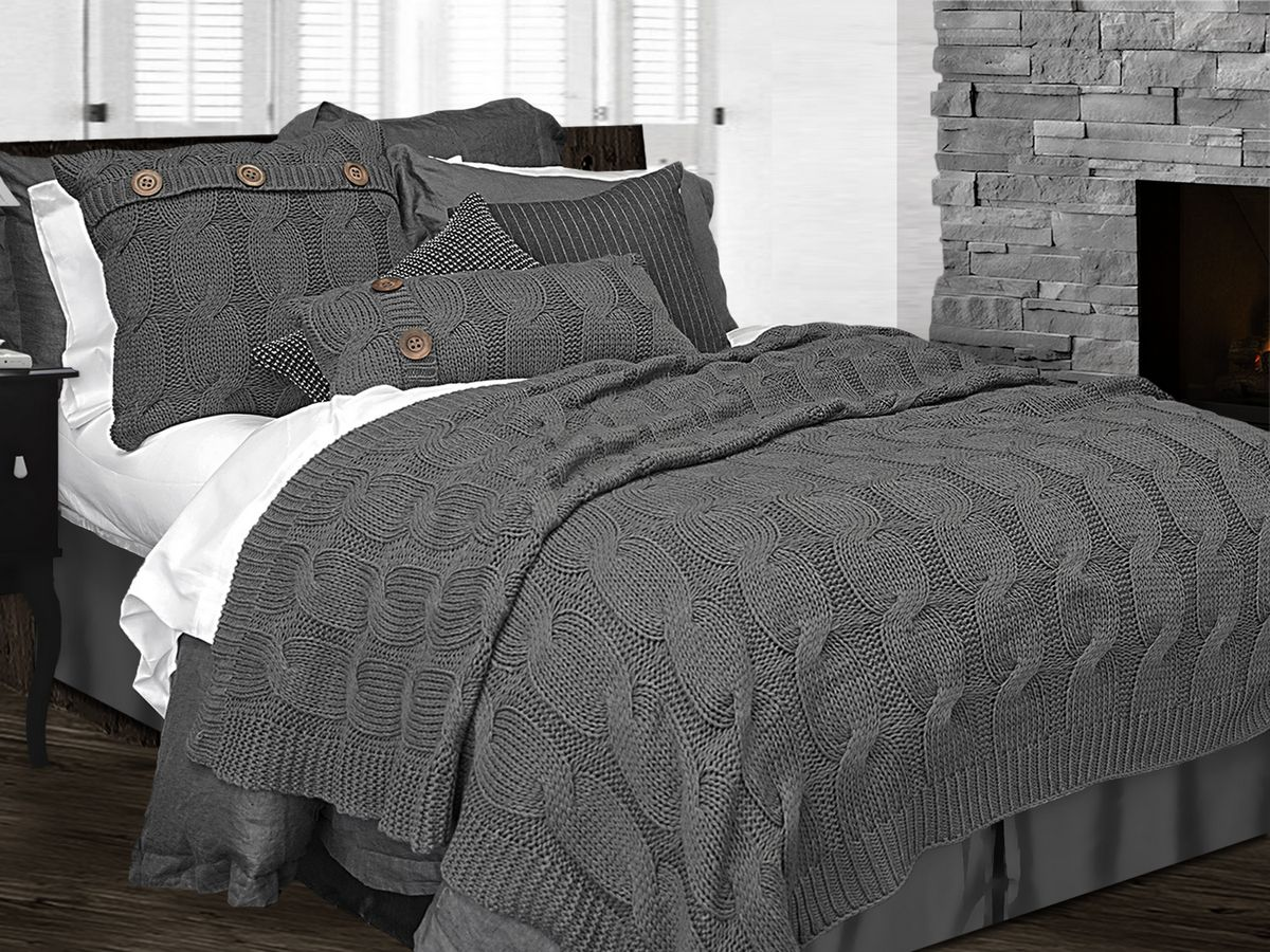 Charcoal Grey Bedding Sinclair Charcoal Grey By Alamode Home Beddingsuperstore