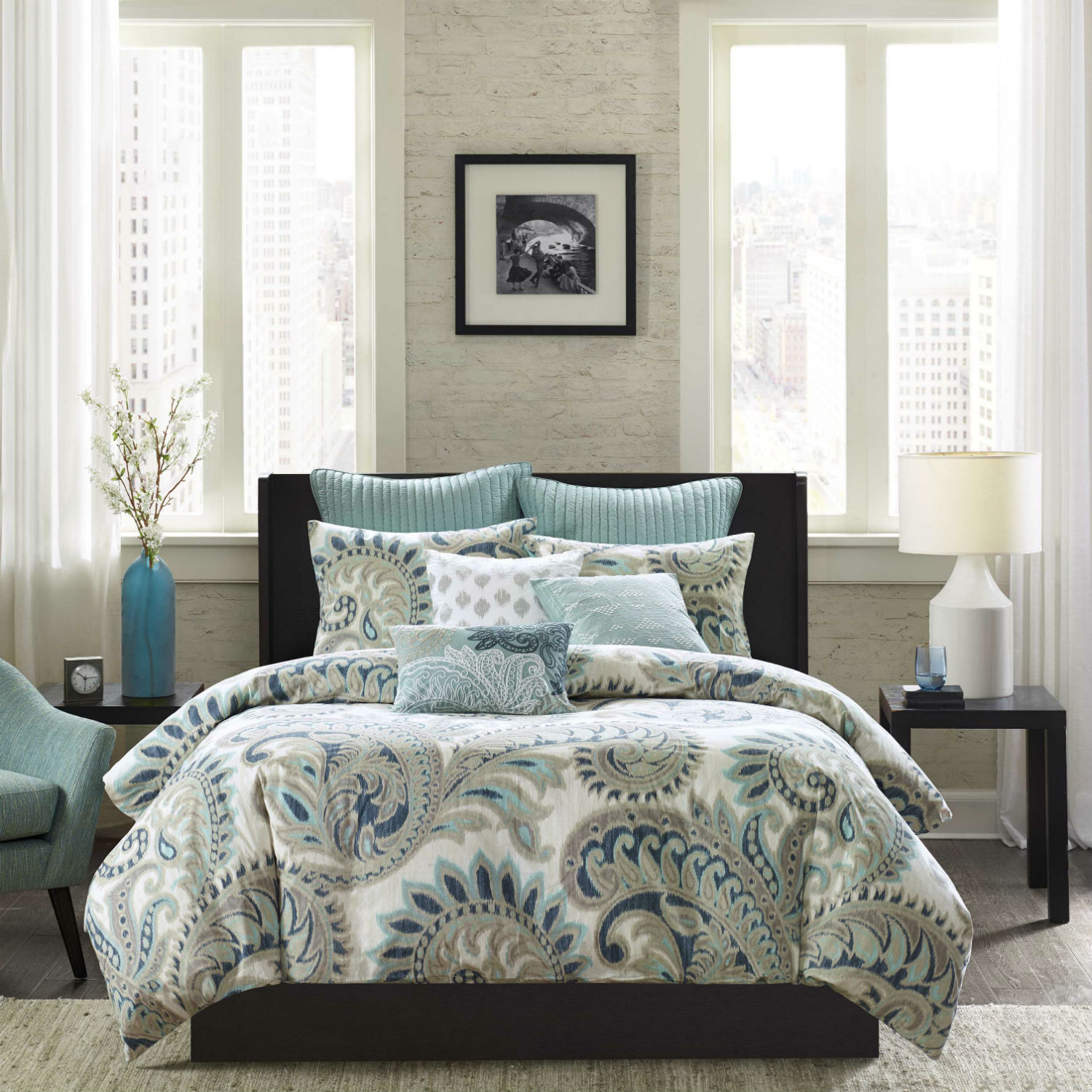 Tan Duvet Cover King Mira By Ink & Ivy Bedding - Beddingsuperstore.com