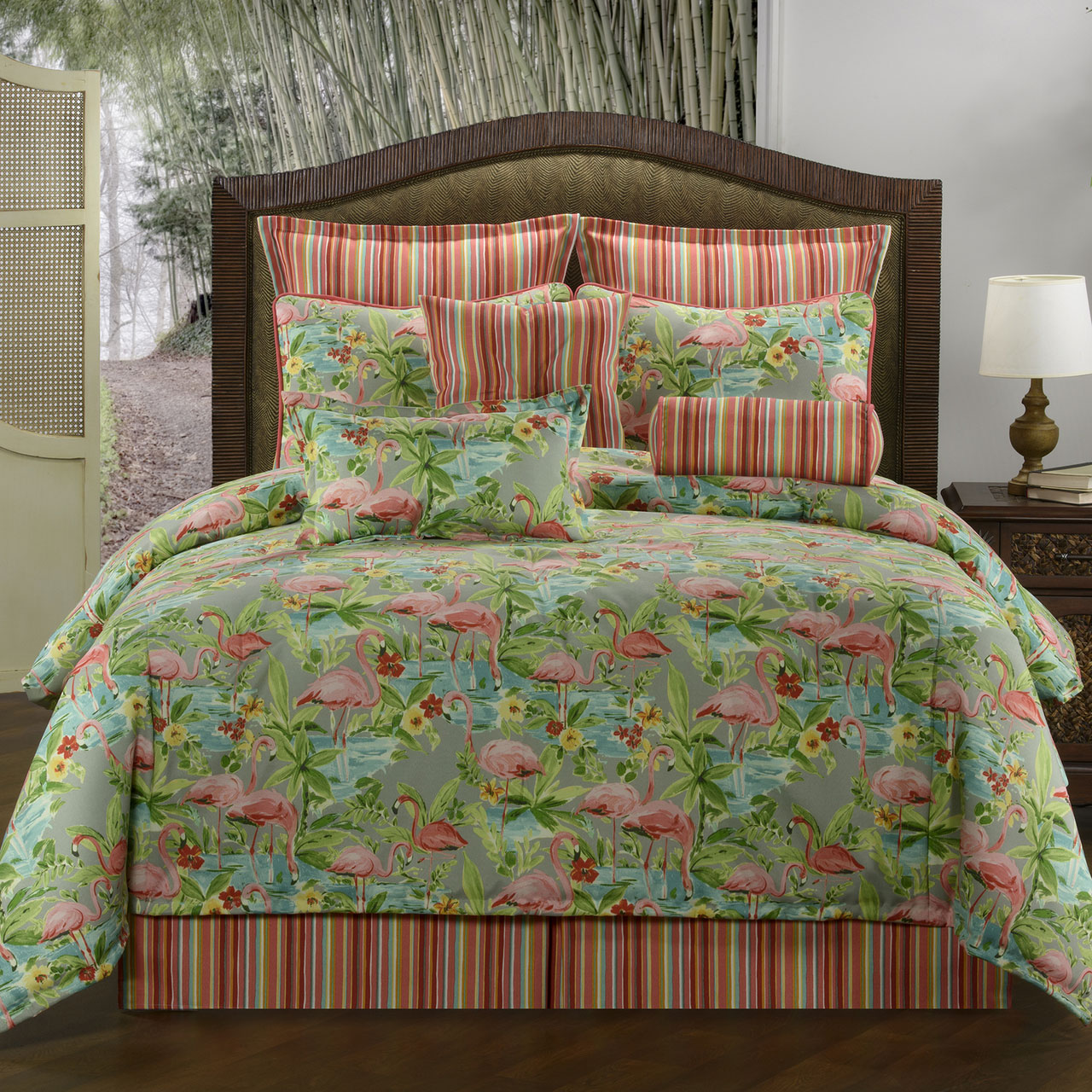 Tan Duvet Cover King Flamingo By Victor Mill - Beddingsuperstore.com