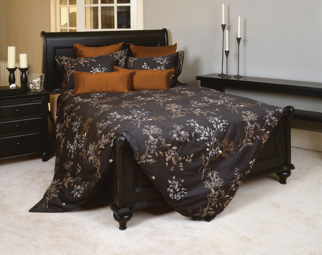 Brown Duvet Cover Essence Black & Copper By Daniadown Bedding