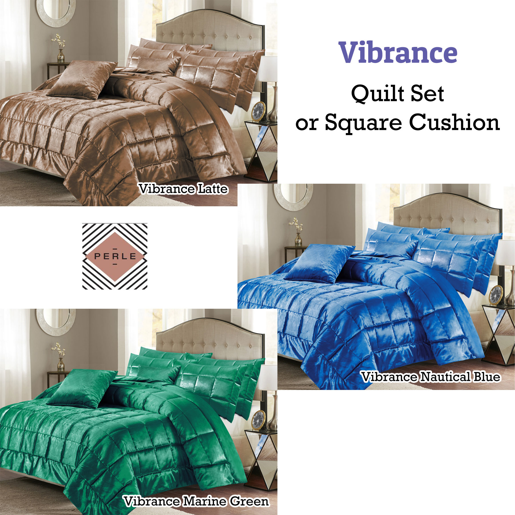 Linge De Maiso Details About Vibrance Quilt Set Or Square Cushion By Perle Linge De Maison