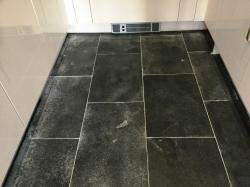 Pretty Black Limestone Wixams Before Cleaning Dealing Wixams Grout Haze Remover Diy Grout Haze Remover Solution Grout Haze On A New Black Limestone