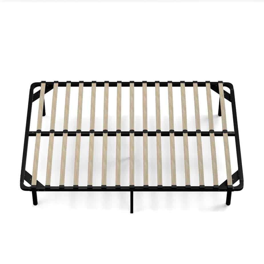 Handy Living Wood Slat Bed Frame Full Bed Frame Box