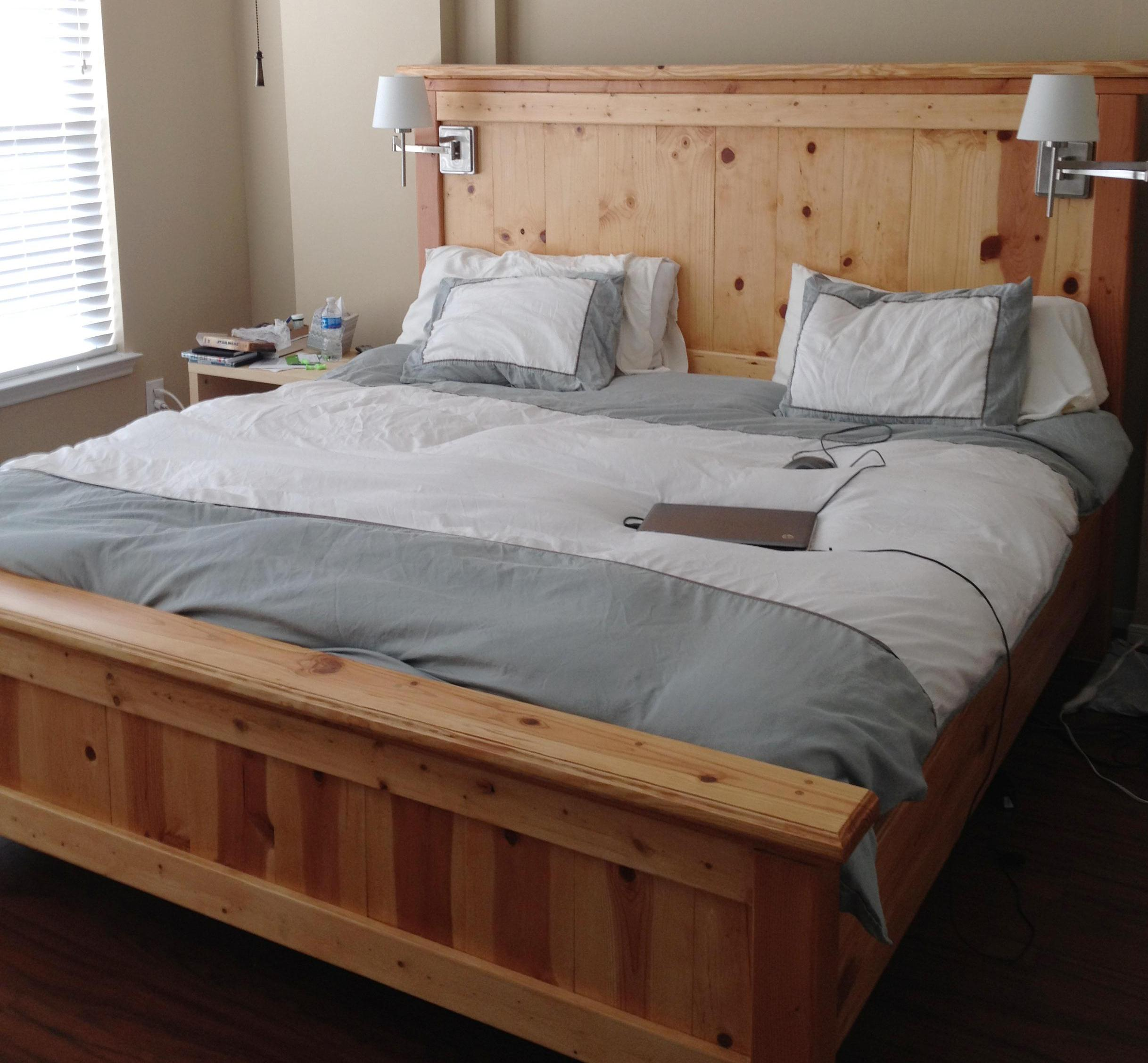 King Size Bed Frame Diy King Size Platform Bed Frame Plans Quick Woodworking